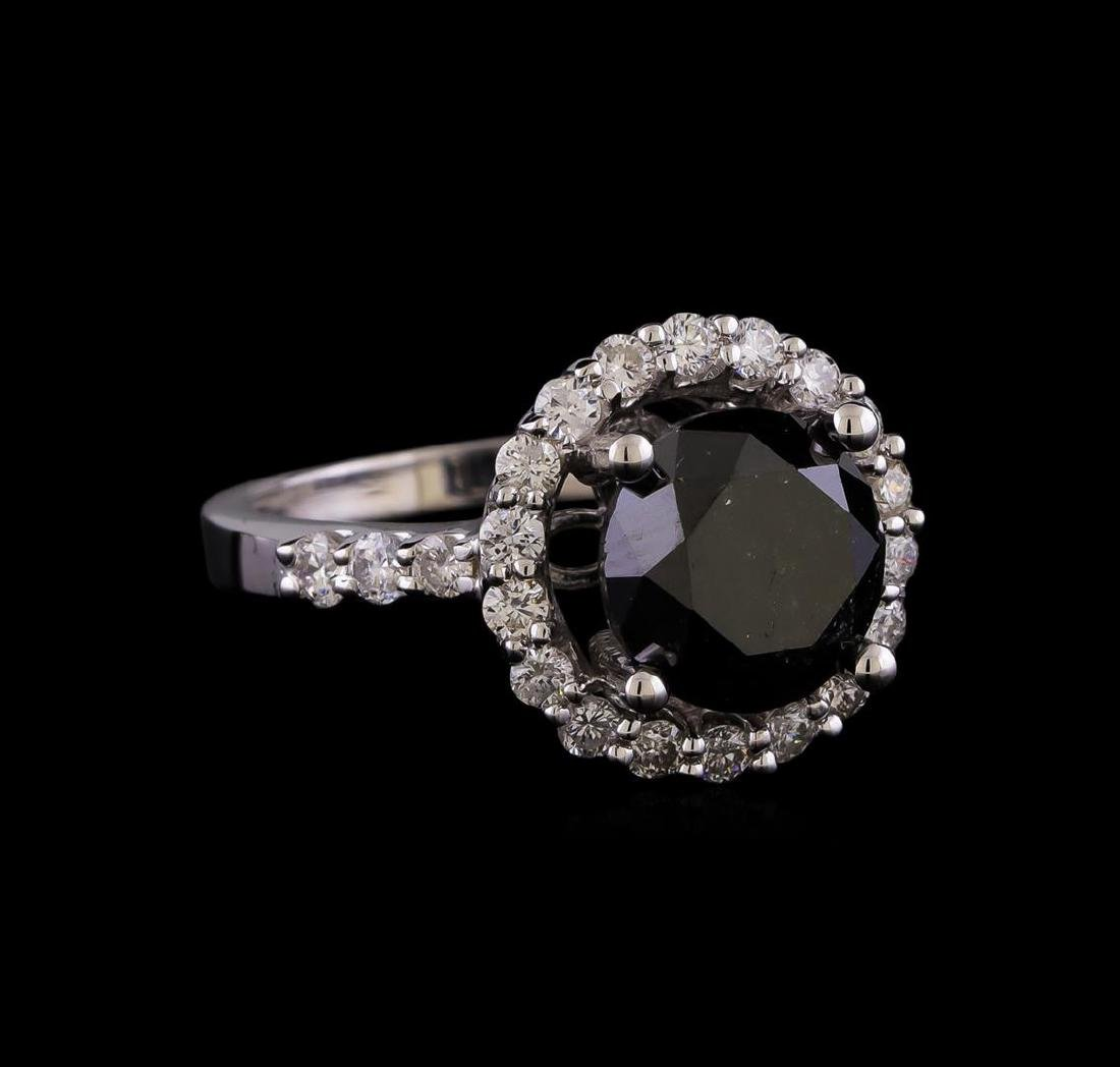 4.27 ctw Black Diamond Ring - 14KT White Gold
