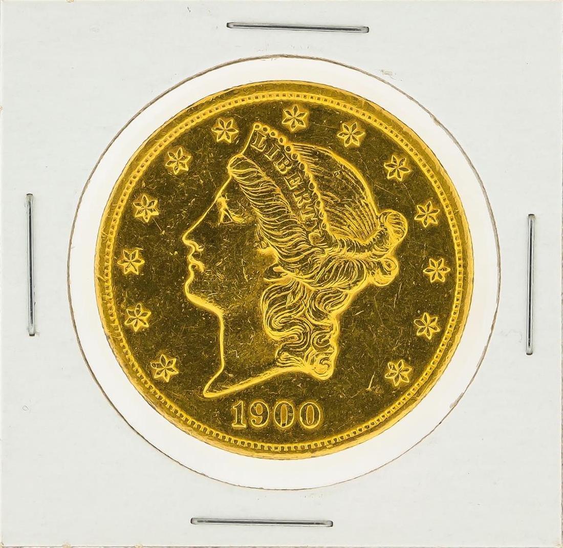 1900 $20 Liberty Head Double Eagle Gold Coin