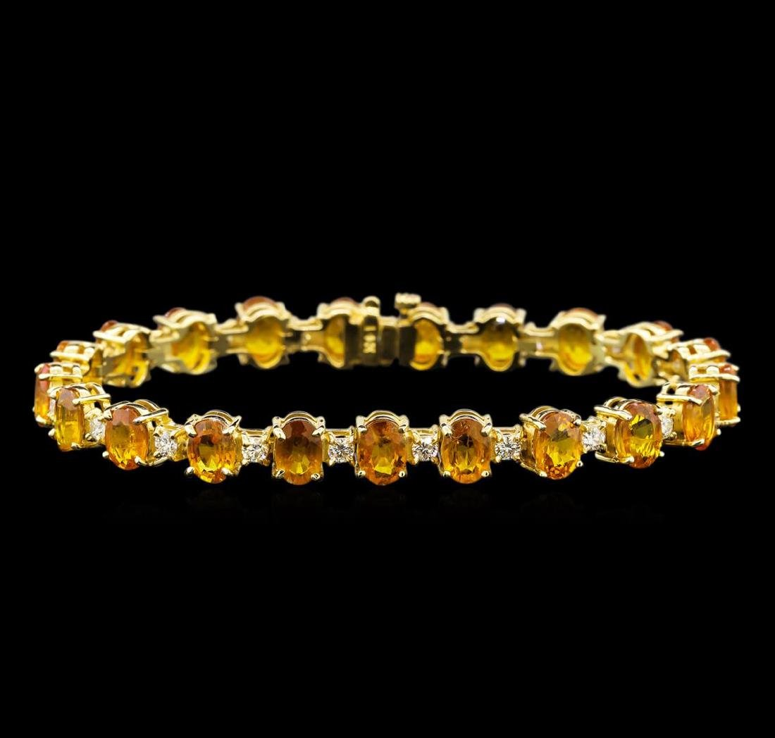 14KT Yellow Gold 21.40 ctw Yellow Sapphire and Diamond