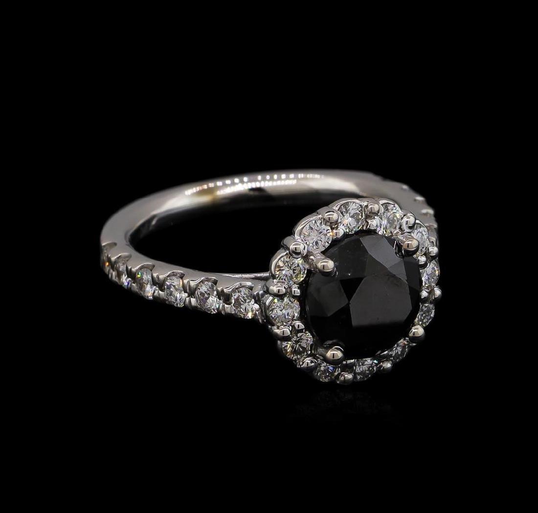 3.56 ctw Black Diamond Ring - 14KT White Gold
