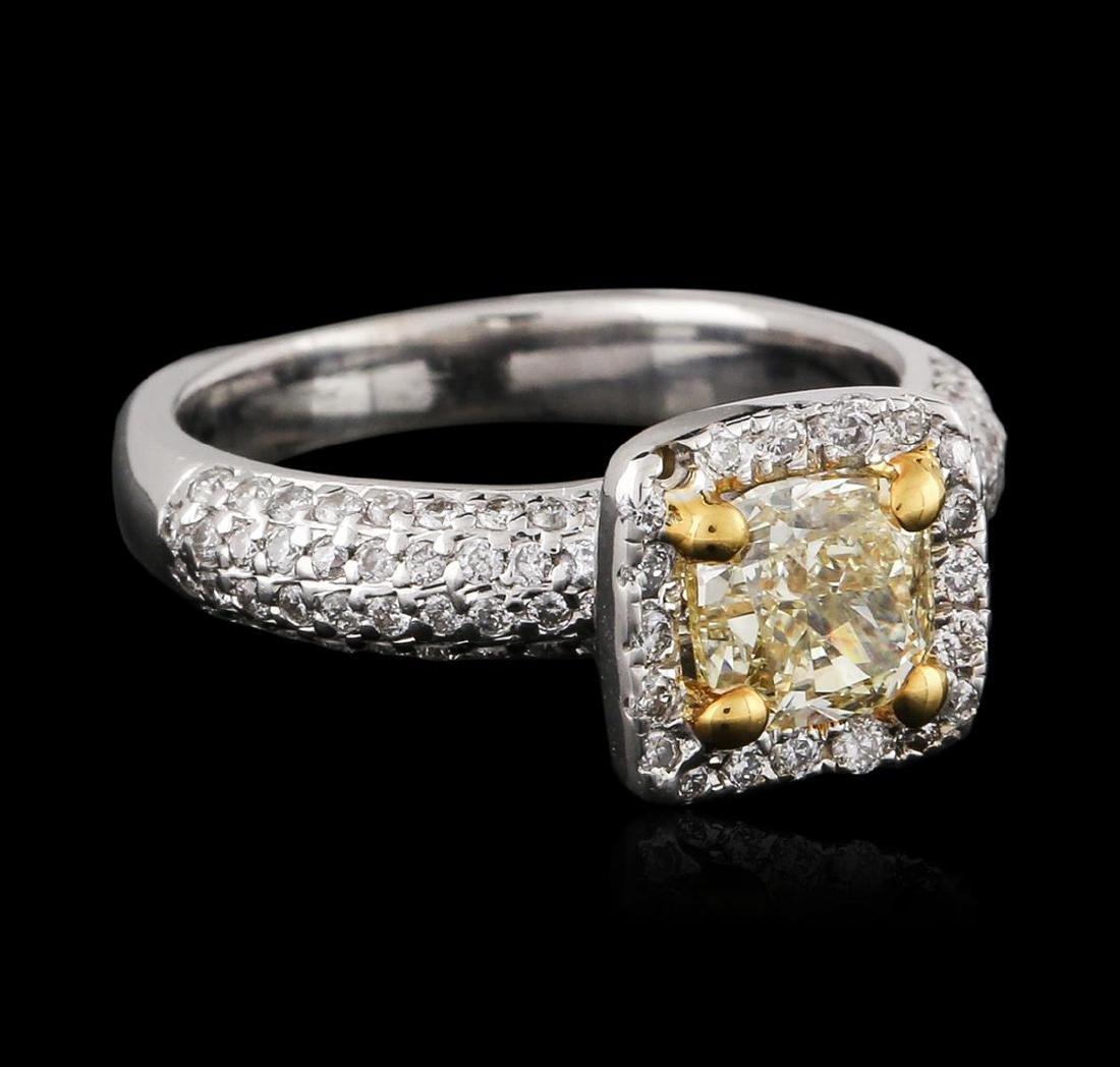 18KT Two-Tone Gold 1.49 ctw Fancy Light Yellow Diamond