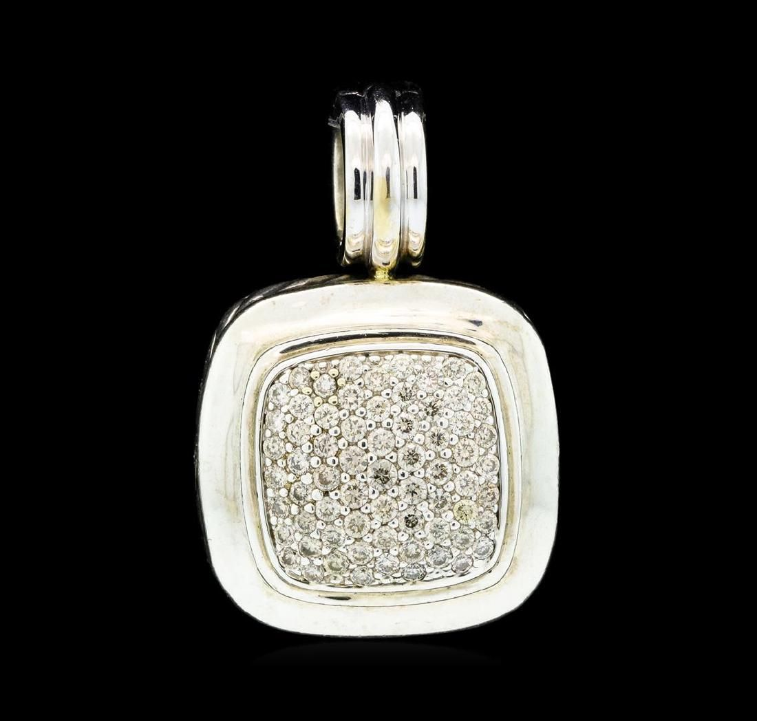 David Yurman Albion Diamond Pave Pendant - Silver and