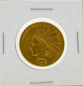 1909-S $10 AU Indian Head Eagle Gold Coin