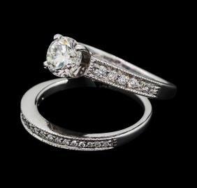1.25 ctw Diamond Wedding Set - 14KT White Gold