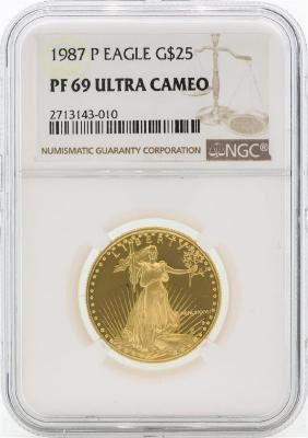 1987-P PF69 Ultra Cameo $25 Gold Eagle