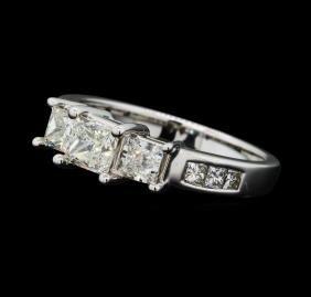 1.48 ctw Diamond Ring - 14KT White Gold