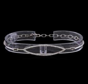 0.40 ctw Diamond Bracelet - 14KT White Gold