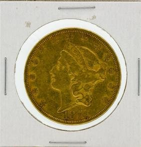 1874 $20 XF Liberty Head Double Eagle Gold Coin