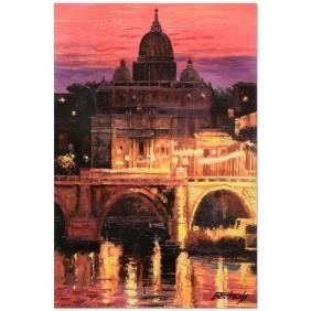 Sunset Over St. Peter's by Behrens (1933-2014)