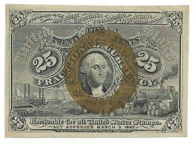 1863 25 Cent Fractional Currency CHCU