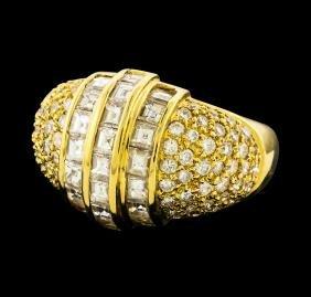 Diamond Ring - 18KT Yellow Gold
