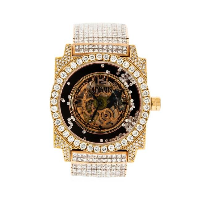 Dunamis 18KT Rose Gold 52.00 ctw Diamond Men's Watch