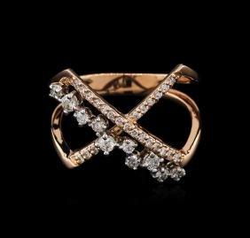 0.39 ctw Diamond Ring - 14KT Rose Gold