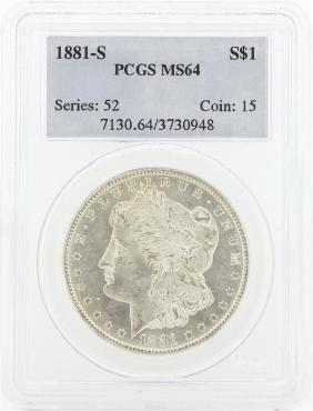 1881 MS64 NGC Morgan Silver Dollar