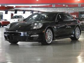 2010 Black Metallic Porsche Panamera Turbo Sedan