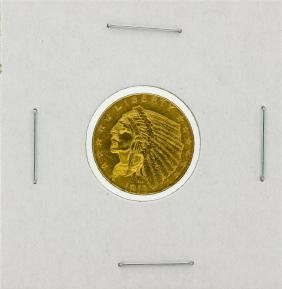 1913 $2.5 AU Indian Head Quarter Eagle Gold Coin