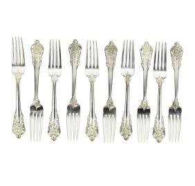 Wallace Grande Baroque Sterling Silver Luncheon Forks
