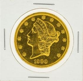 1900 $20 Liberty Head Double Eagle Gold Coin
