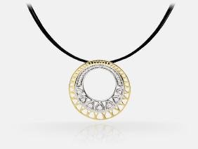 Diamond Pendant - 14KT Yellow Gold