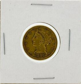 1899-S $5 XF Liberty Head Half Eagle Gold Coin