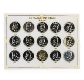 1950-1964 Sealed US Franklin Half Dollar Proof Set