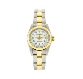 Rolex Two-Tone Oyster Perpetual Ladies Watch