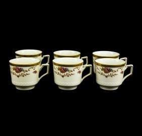 TIRSCHENREUTH COFFEE SERVICE FOR 6   china Pink roses,
