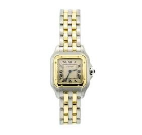 Cartier Ladies Stainless Steel and 18KT Yellow Gold