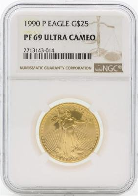1990-P PF69 Ultra Cameo $25 Gold Eagle