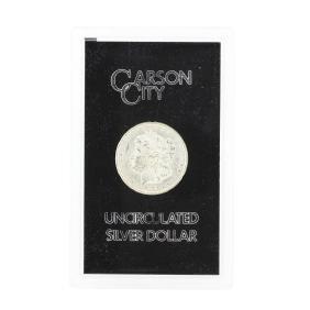 1878 Carson City Uncirculated Silver Dollar