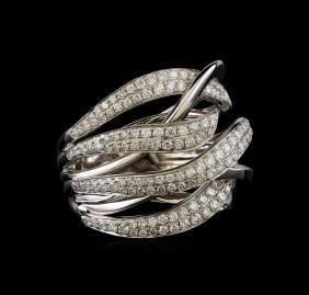 1.10 ctw Diamond Ring - 14KT White Gold