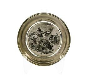 Vintage Sterling Silver Thanksgiving Plate by The Kirk