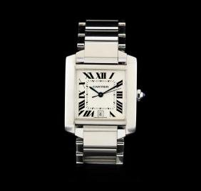 Cartier Stainless Steel Tank Francaise Men's Watch