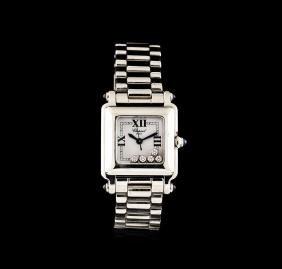 Chopard Stainless Steel Diamond Happy Sport Watch