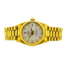 Rolex 18KT Yellow Gold DateJust Midsize Watch