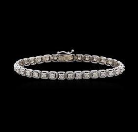 2.92 ctw Diamond Tennis Bracelet - 14KT White Gold