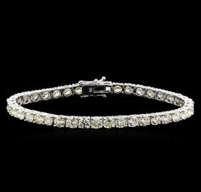 13.00 ctw Diamond Tennis Bracelet - 18KT White Gold