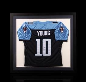 Vince Young Framed Autographed Jersey