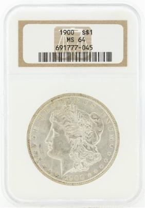 1900 MS64 NGC Morgan Silver Dollar