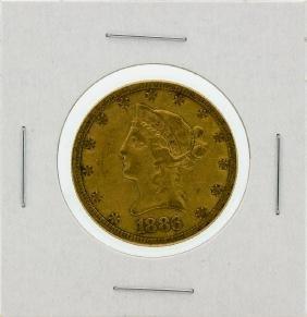 1886-S $10 VF Liberty Head Eagle Gold Coin