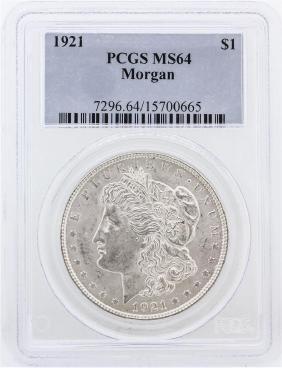 1921 PCGS MS64 Morgan Silver Dollar