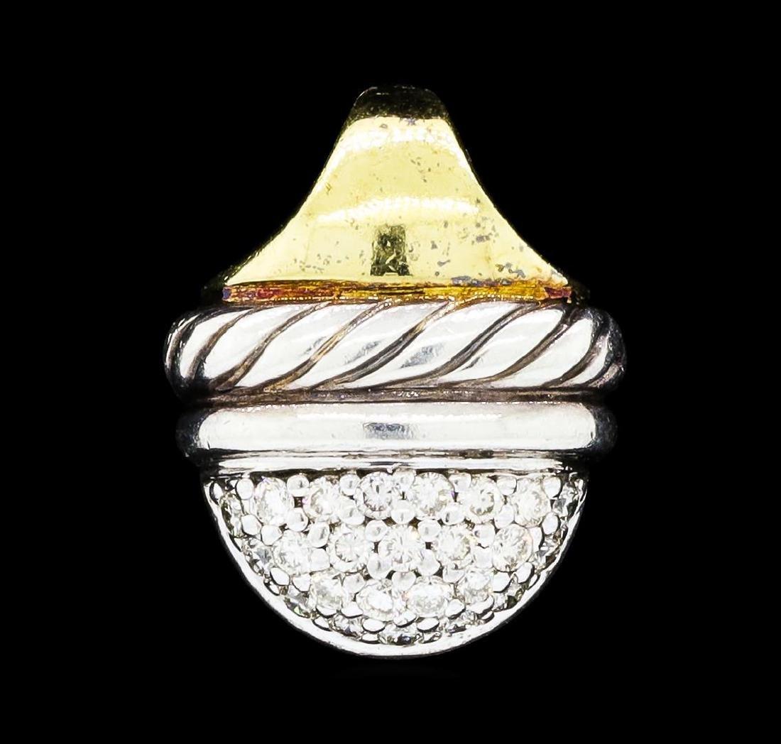 David Yurman 0.25 ctw Diamond Drop Pendant - Sterling