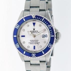 Rolex Stainless Steel Sapphire And Diamond Submariner