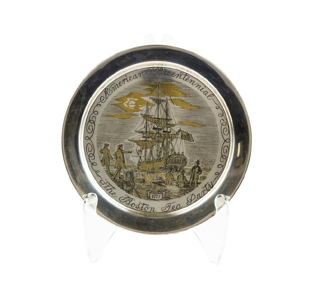 The Boston Tea Party Bicentennial Plate by the Danbury