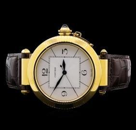 Cartier Pasha Jumbo 18kt Yellow Gold Watch