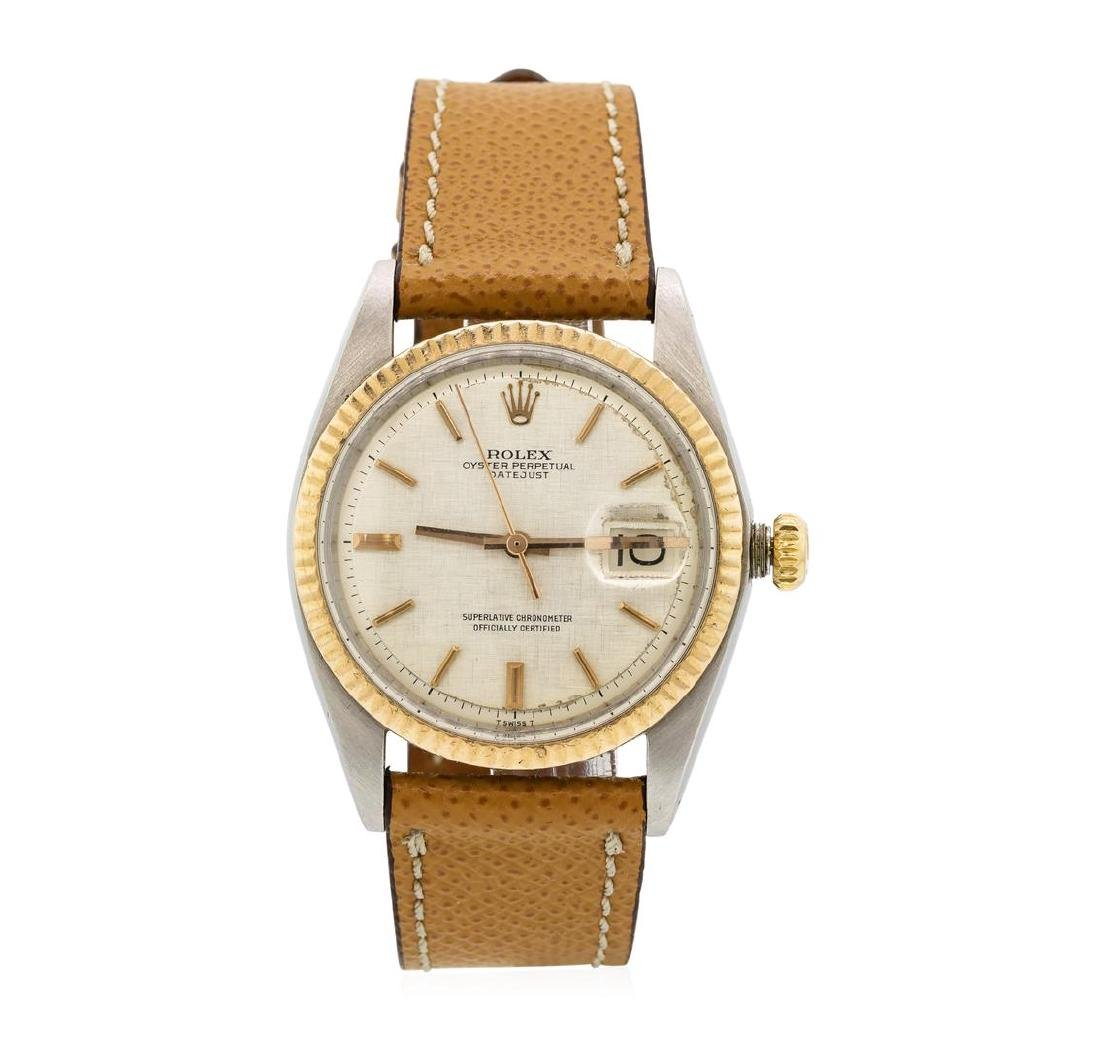 Rolex Rose Gold and Stainless Steel Men's Oyster