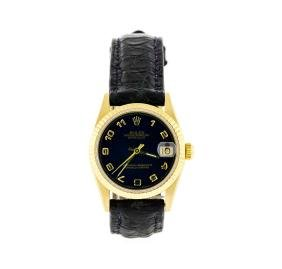 Rolex 18kt Yellow Gold Datejust Mid Size Watch