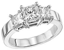Diamond Ring  18KT White Gold