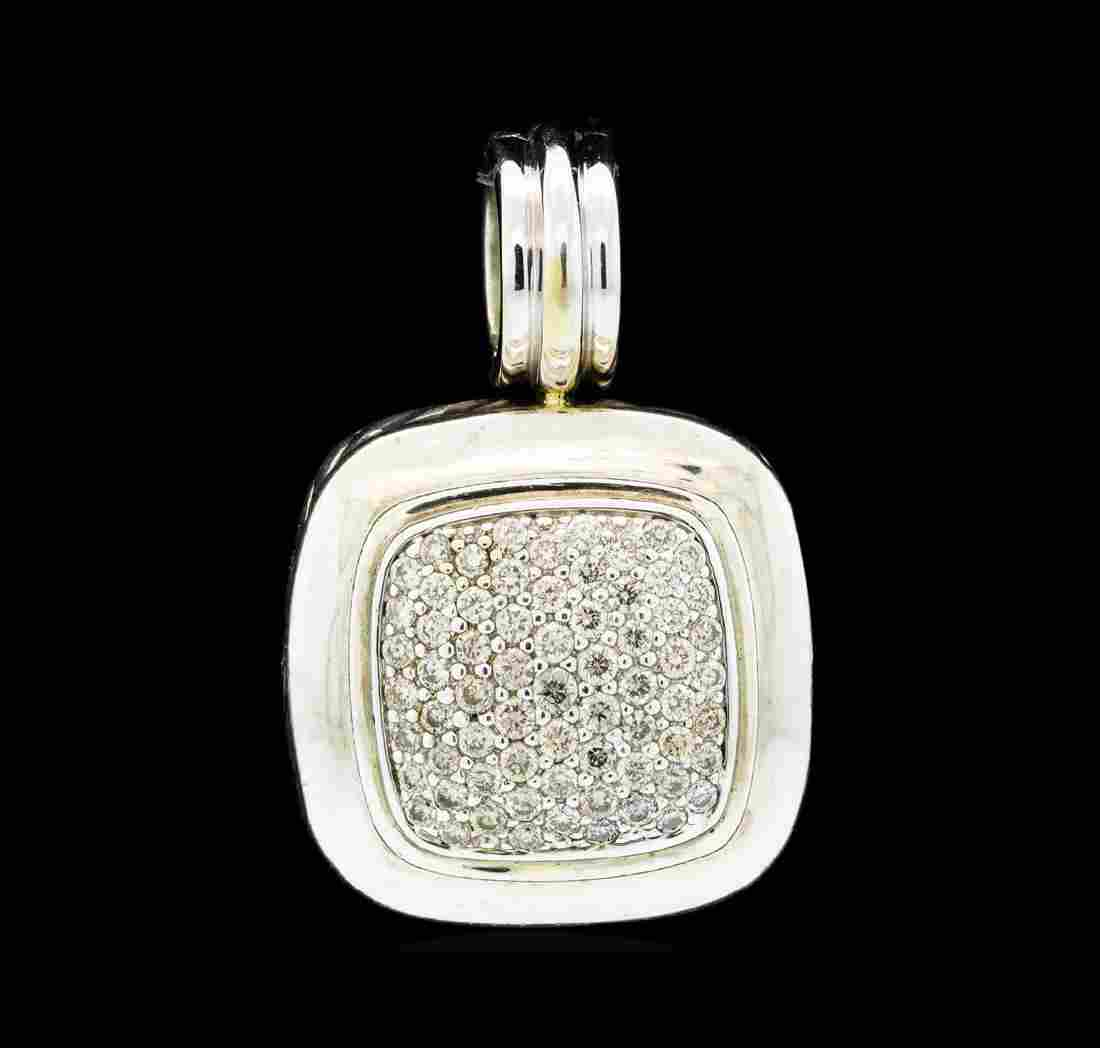 David Yurman Albion Diamond Pave Pendant - Silver and