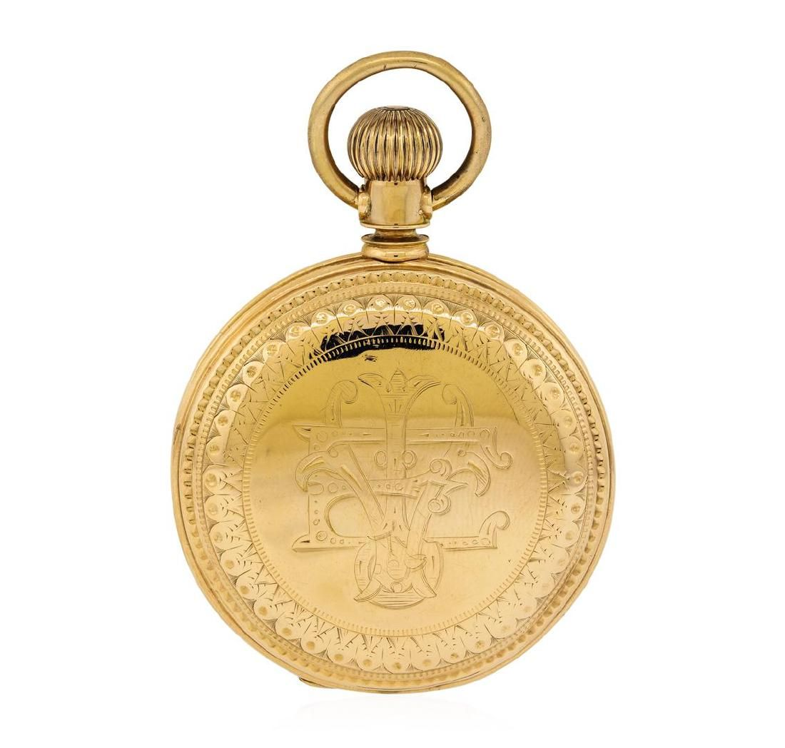 Antique J.P. Stevens Pocket Watch - 14KT Rose Gold